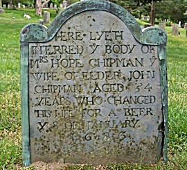 Hope Chipman tombstone